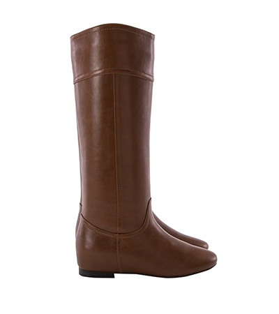 V口弧線素面內增高長靴1