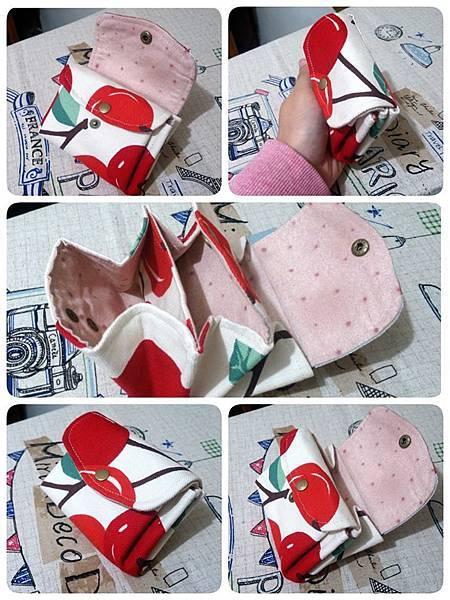 櫻桃三層手拿包