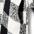 甜美氣質黑白格紋毛呢洋裝1