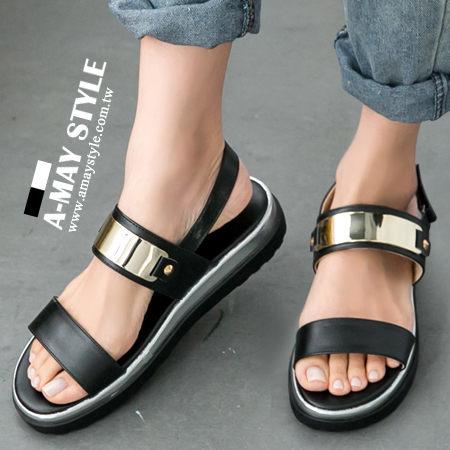 涼鞋-MIT率性金屬片釦飾平底涼鞋.jpg