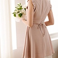 甜蜜荷葉袖雙層下擺洋裝299.jpg