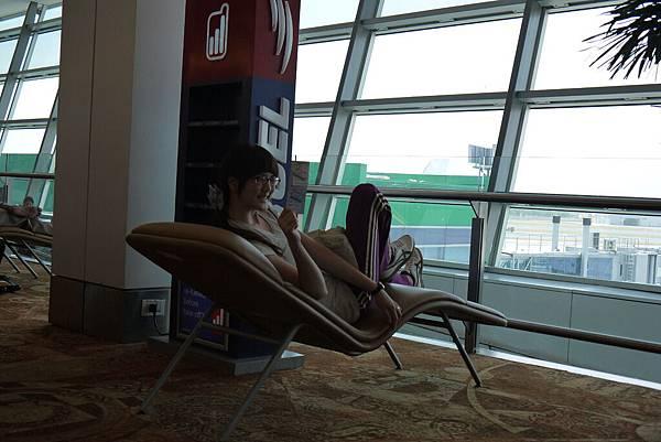 新德里機場候機