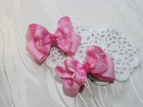 粉紅小熊美式雙層蝴蝶結