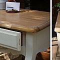 南法鄉村風仿古作舊全實木古典茶几桌