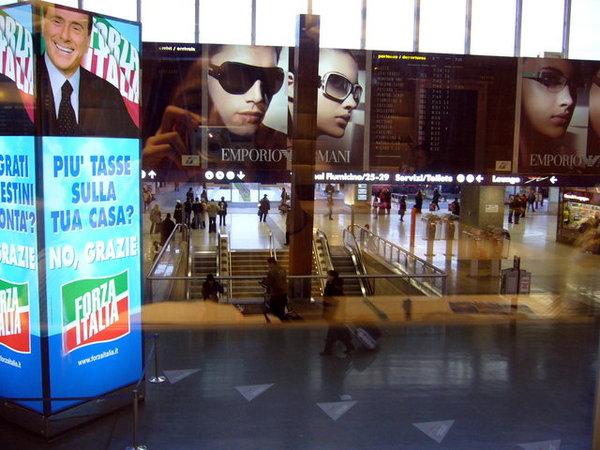 羅馬車站到了.JPG