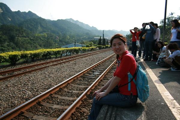 等火車啦!