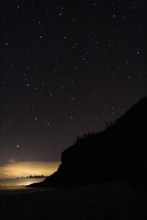 大白沙的星空