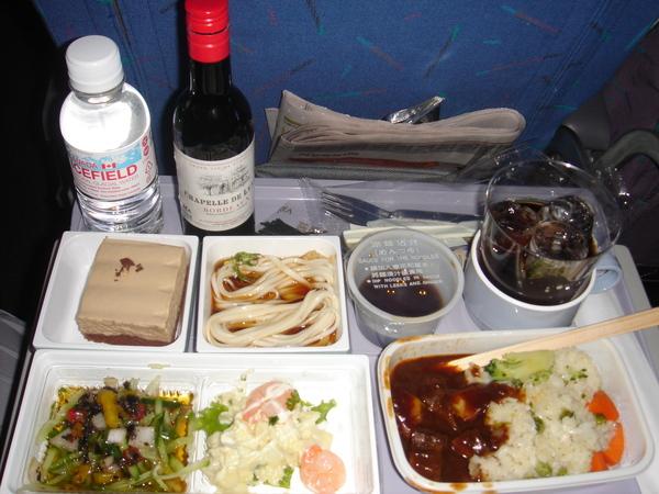 機上的簡餐