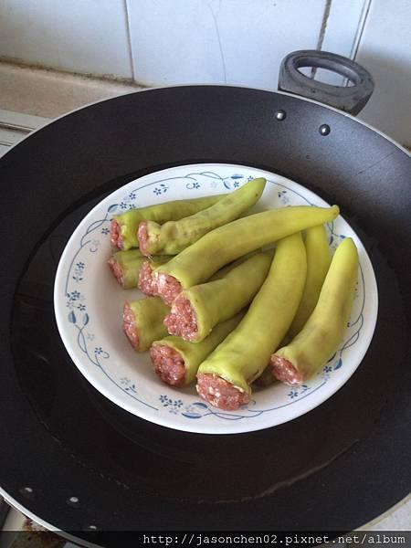 青椒鑲肉八