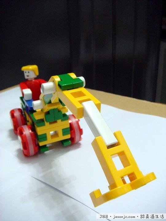 用Lasy積木DIY挖土機
