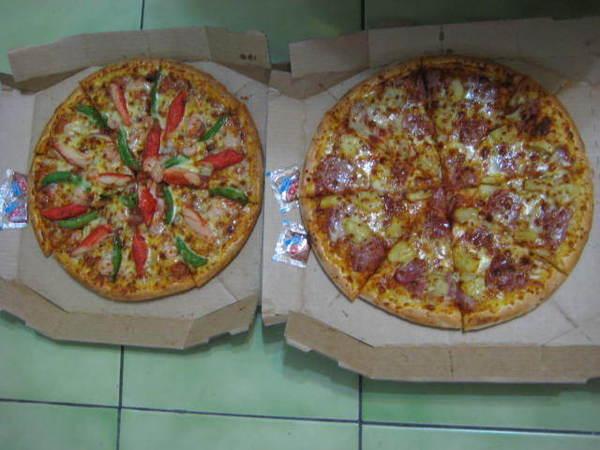 還有外賣的pizza