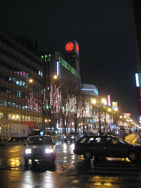 札幌街頭夜景
