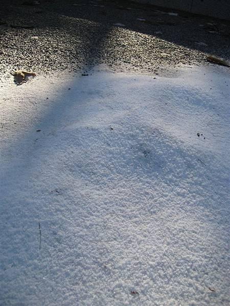 薄薄的細雪