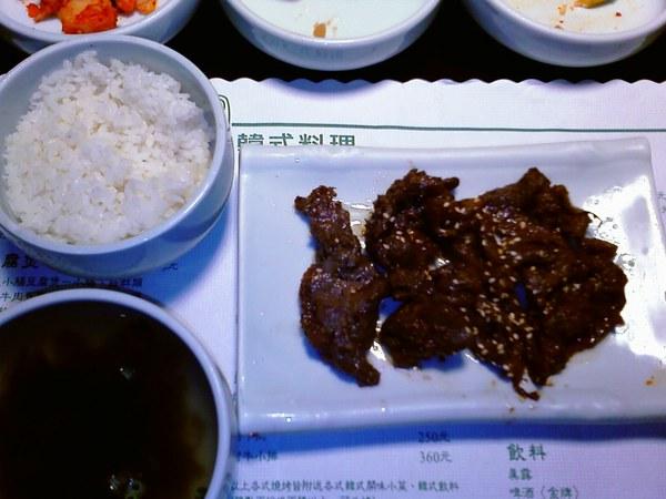韓式烤牛肉定食