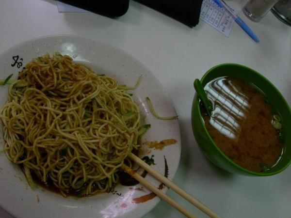 晚餐--涼麵+味增湯