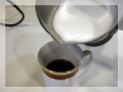 完成後倒了濃縮咖啡中