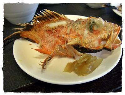 組合餐烤魚-石狗公