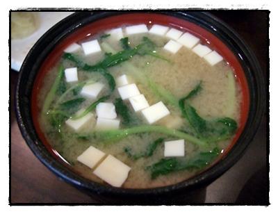 套餐附的味噌湯