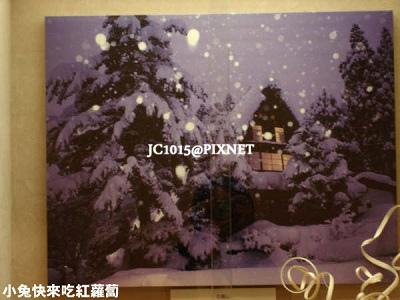 漂亮的雪景畫