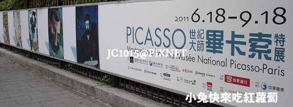 世紀大師-畢卡索特展:左側外牆