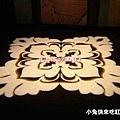 投射在地上的燈花:吐魯番