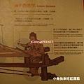 織布機教學(織工沿著織布機的長度排列稱為「經線」的長線)(「腳踏板」可提高個別的經線,好讓織工在其間穿排水平的緯線)
