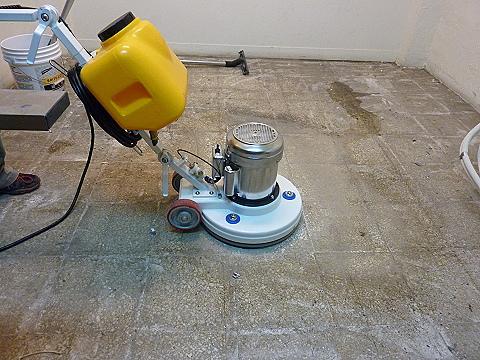 磨石子地板清潔前