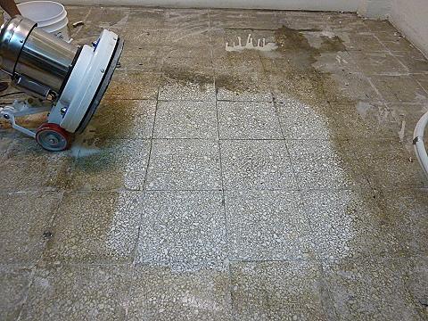 磨石子地板研磨