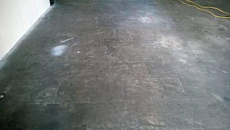 大理石地板除膠前