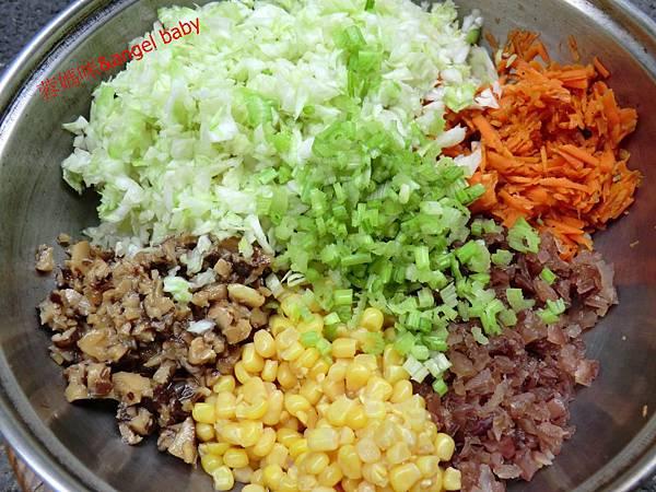 蔬食五行彩色餃