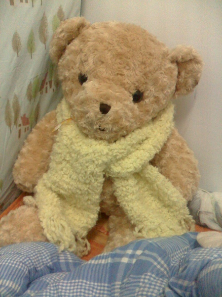 小男朋友圍我織的圍巾
