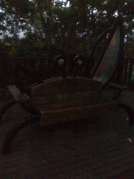 紅樹林的椅子