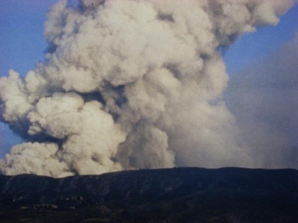 火山爆發時的景觀