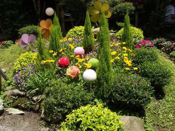 園中的花園造景
