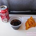 只有飲料的飛機餐