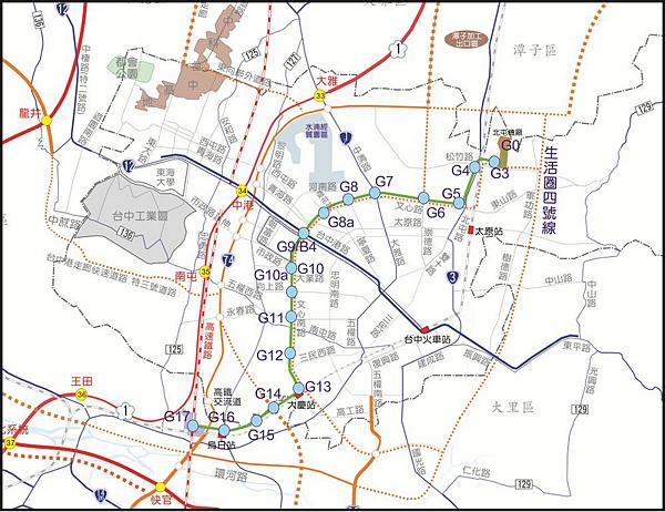 台中綠線捷運圖