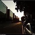 夕陽與城市