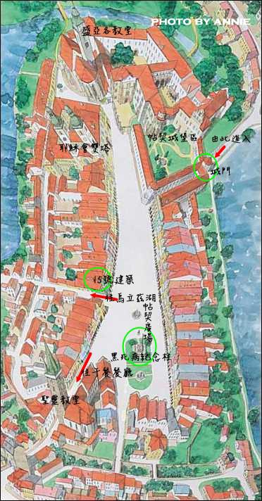 20171120 (12) 泰爾奇(Telč)小鎮%26;城堡地圖 [Telč官網].jpg