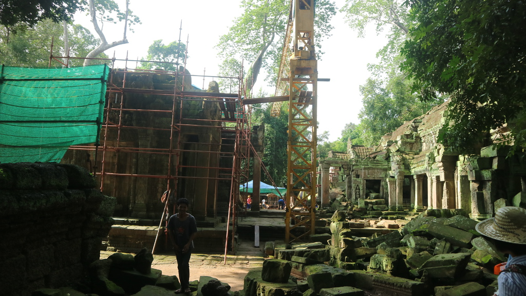 20180911 (62) 目前由印度團隊負責維護的塔普倫寺 [Ta Prohm].JPG