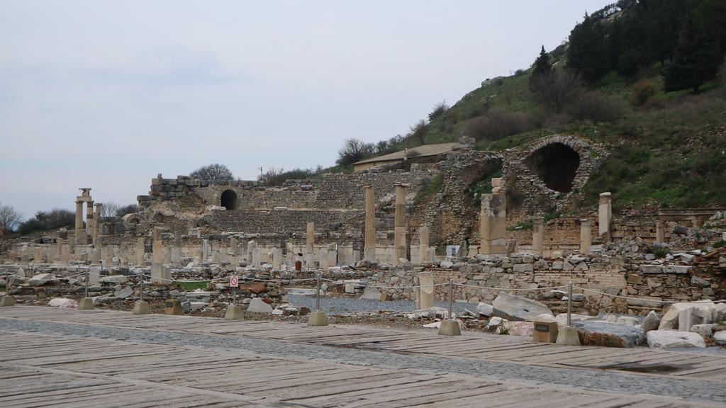 20190107 (42) 瓦留士浴場前方的Ionic式石柱 [艾菲索斯(Ephesus)].JPG