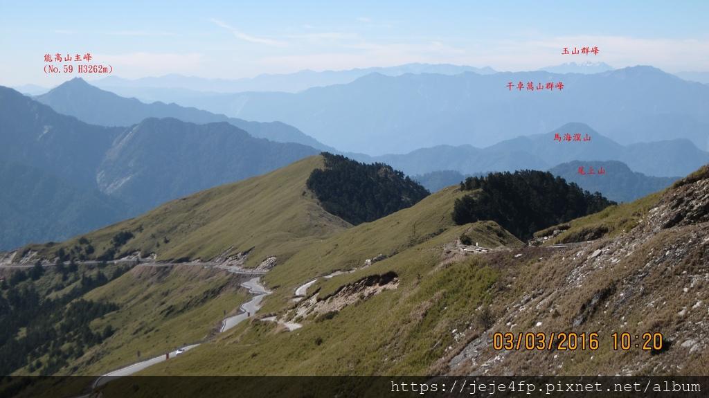 20160303 (72A) 由合歡主峰登山步道眺望.JPG