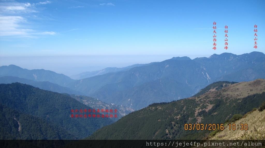 20160303 (78A) 由合歡主峰登山步道眺望.JPG