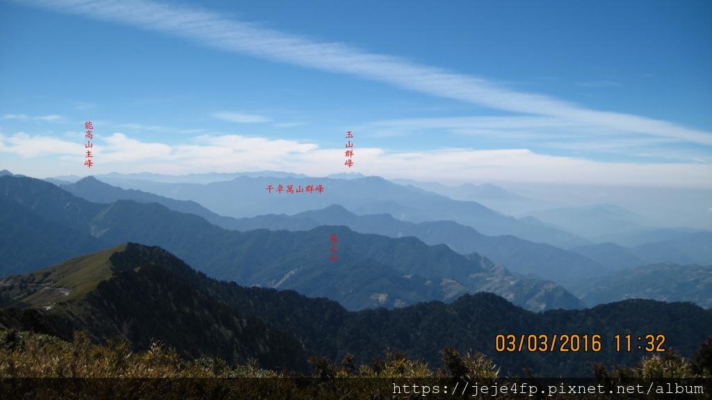 20160303 (126A) 由合歡山主峰頂眺望周遭群山.JPG