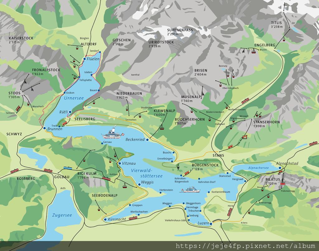 20181113 (1) 琉森湖(Lake Lucerne)與附近的山%26;城鎮.jpg