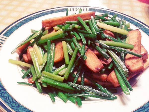 韭菜炒豆干