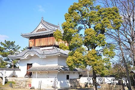 月見櫓主要是供城主和賓客在此地吟詩賞月之用