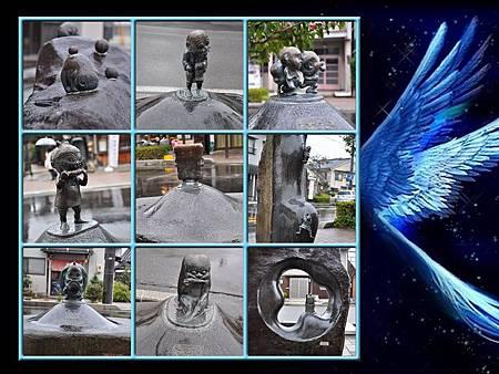 整條妖怪橫町的妖怪雕像至少20個以上,真的拍都拍不完勒
