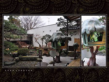 """紀念館的最後一個展區 """"妖怪庭園"""",妖怪們分散的躲在展區裡喔"""