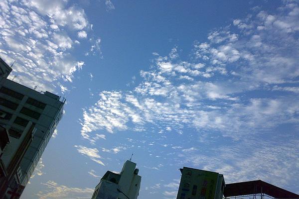 抬頭的藍天