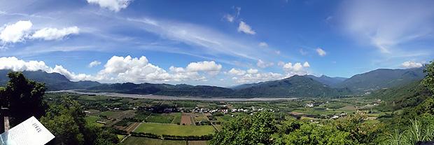 鹿野高台全景